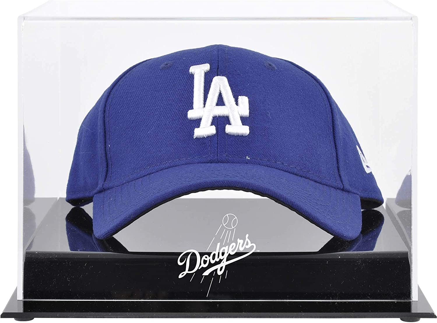 Los Angeles Dodgers Acrylic Cap Logo Display Case  Fanatics Authentic Certified  Baseball Hat Free Standing Display Cases