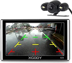 Xgody 826BT Car GPS Navigation with 6 Meters Backup Camera 7'' 256MB/8GB Sunshade Capacitive Touch Screen Trucking GPS NAV Lifetime Map Updates Speed Limit Displays Spoken Turn-by-Turn Directions