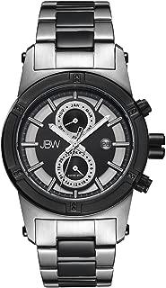 JBW Luxury Men's Strider .12 Carat Diamond Wrist Watch with Stainless Steel Link Bracelet