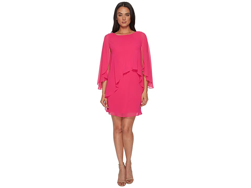 LAUREN Ralph Lauren Apollonia Georgette Dress (Tropic Pink) Women