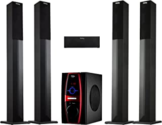 Frisby FS-6600BT 5.1 Channel Stereo Home Theater System w/Tower Satellite Speakers & Bluetooth/USB/SD/AUX/Remote Control