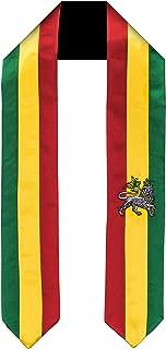 Ethiopia Rastafari Lion Flag Graduation Sash/Stole International Study Abroad Adult Unisex
