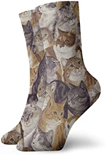 Jhonangel, Gatos empacados Calcetines de vestir Calcetines divertidos Calcetines locos Calcetines casuales para niñas Niños