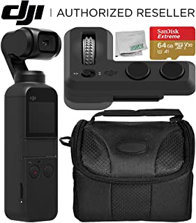DJI Osmo Pocket Handheld 3 Axis Gimbal Stabilizer with Integrated Camera + DJI Part 6 Controller Wheel Starters Bundle
