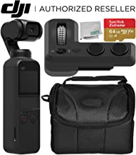 DJI Osmo Pocket Handheld 3 Axis Gimbal Stabilizer with Integrated Camera + DJI Part 6 Controller Wheel Starters Bundle