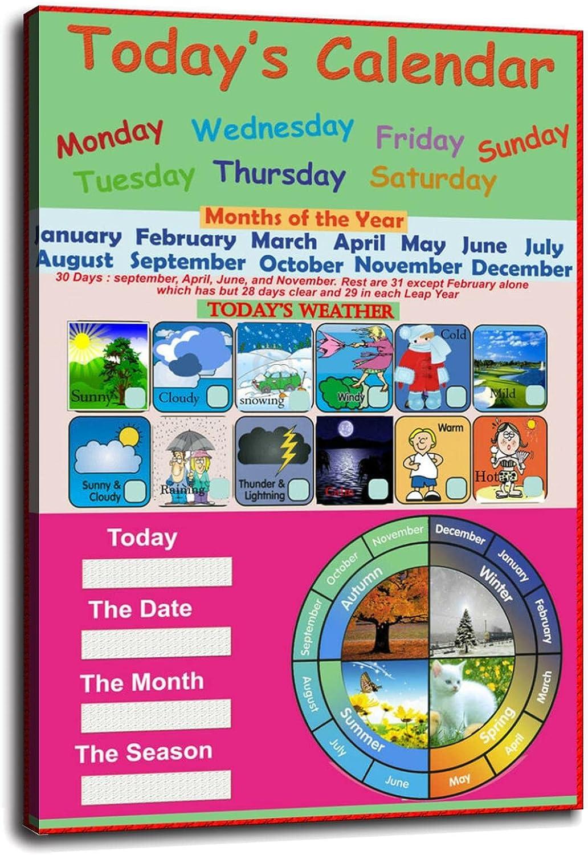 Laminated Today's Calendar Seasonal 2021 Wrap Introduction Calandar Calender Educational School