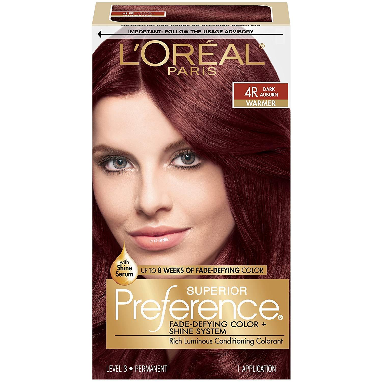 Brand new L'Oreal Superior Preference - 4R Dark Auburn Warmer Financial sales sale Pa 1 Each
