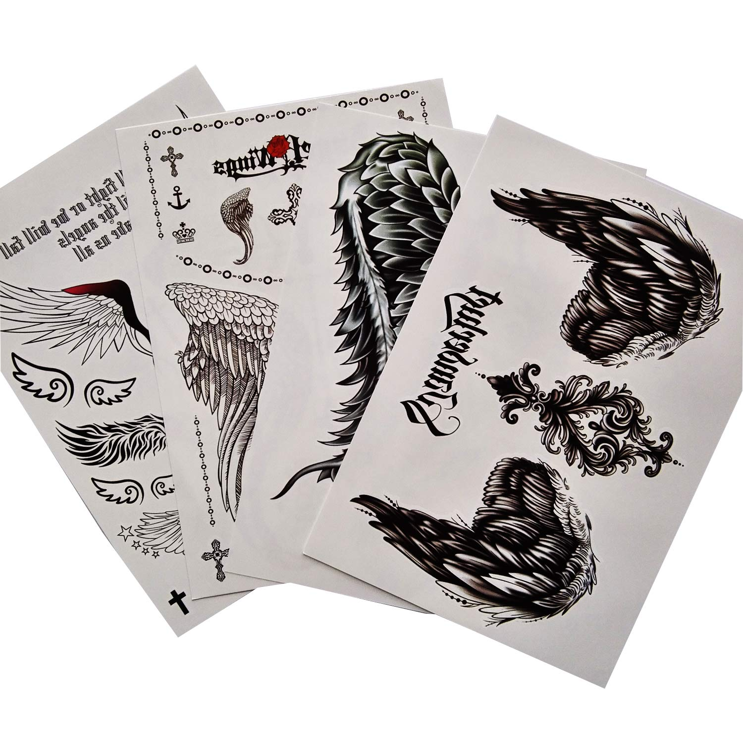 Kotbs 4 2021 spring Branded goods and summer new Sheets Mix Angel Wings Tattoo for Women Wa Sticker Large