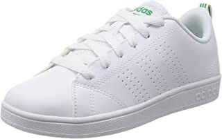 adidas Australia Boys VS Advantage CL Trainers, Footwear White/Footwear White/Green