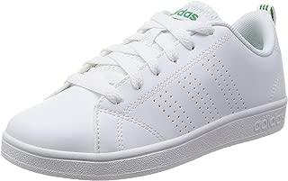 adidas Australia Boys VS Advantage CL Trainers, Footwear White/Footwear White/Green