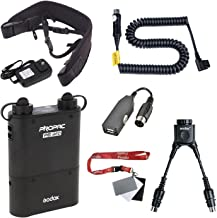 Fomito Godox PB960 Portable Extended Flash Power Battery Pack Kit Dual Output for Canon 600EX, 580EX II, 550EX, 430EZ, for Godox Yongnuo Flashes,for AD360II AD360 AD180, for Mobile Phone