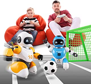 Mopoq Double Remote Control Battle Robot Toy With Football Matching Goal Home Parent-child Interaction Gift Boutique Smart...