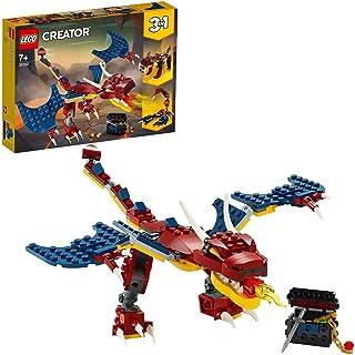 LEGO Creator 3 w 1 Smok ognia 31102 — zestaw konstrukcyjny, fajna zabawka do zbudowania dla dzieci (234 elementy)