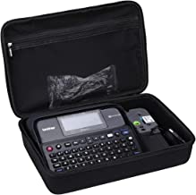 Aproca Hard Storage Travel Case for Brother P-Touch Label Maker PTD600 (Black-New Version)