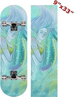 Anneunique Custom Blue Ocean Mermaid Skateboard Grip Tape Sheet 9