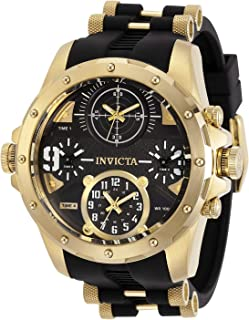 Invicta Men's Coalition Forces Stainless Steel Quartz Watch with Silicone Strap, Black, 26 (Model: 31141)