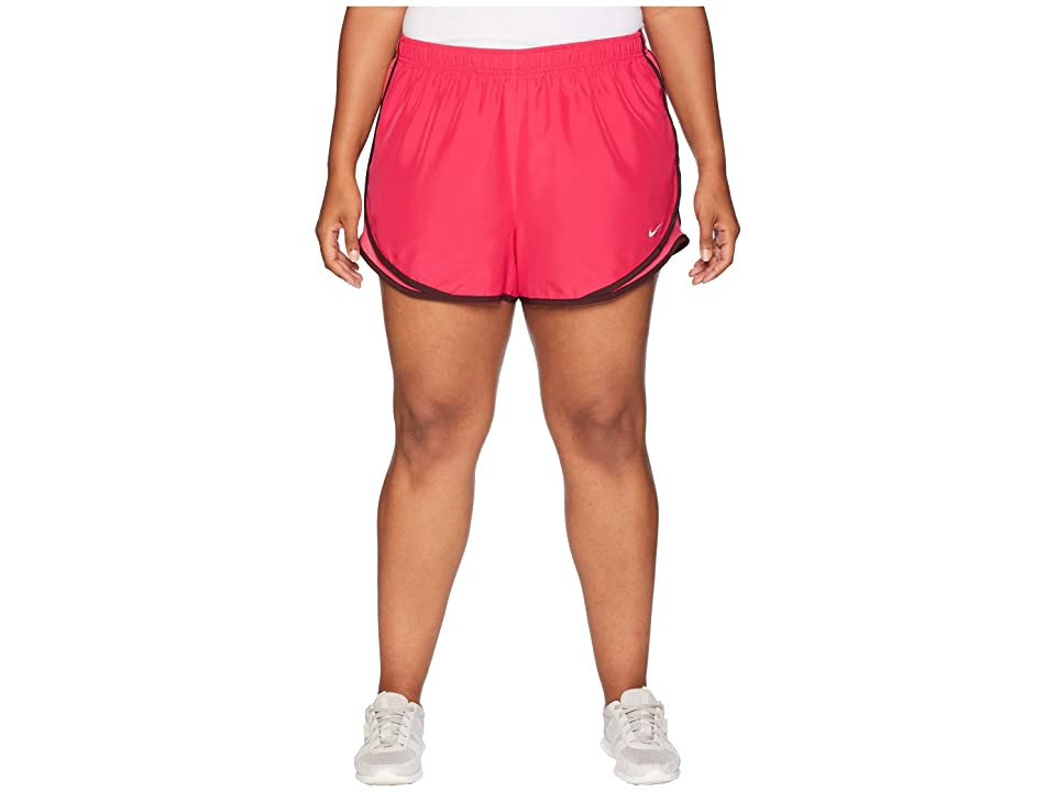 Nike Dry Tempo 3 Running Short (Size 1X-3X) (Rush Pink/Rush Pink/Wolf Grey) Women