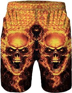 WEUIE Mens 3D Printed Funny Swim Trunks Quick Dry Men Beachwear Sports Running Swim Board Shorts Beach Short Pants