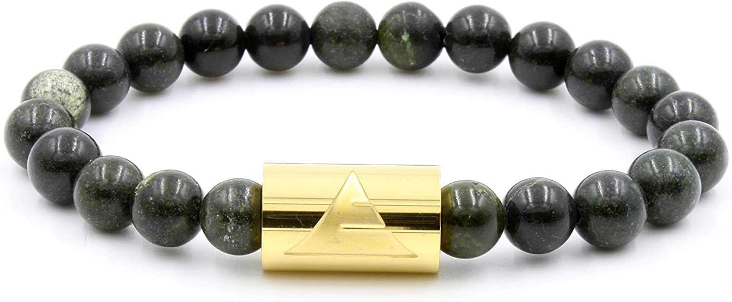 quality OFFicial mail order assurance Everwood Rocky - Russian Serpentine Stone Beaded Size Bracelet L