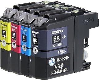 【Amazon限定ブランド】ジット 日本製 ブラザー(Brother)対応 リサイクル インクカートリッジ LC111-4PK 4色セット対応 JIT-NB1114P
