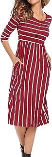 Best red vertical striped dress Reviews