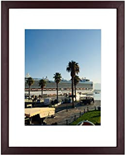 Golden State Art, Mahogany Photo Wood Collage Frame with Real Glass (11x14)