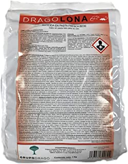 comprar comparacion DRAGOLONA Raticida Profesional para Exteriores contra Ratas y Ratones Rojo Cebo Fresco anticoagulante de acción rápida 1 kg