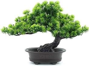 "yoerm Artificial Japanese Juniper Bonsai Tree Height 9.5"" for Home Office Indoor Decor"