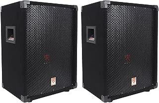 (2) Rockville RSG10 10 400 Watt 2-Way 8-Ohm Passive DJ/Pro Audio PA Speaker