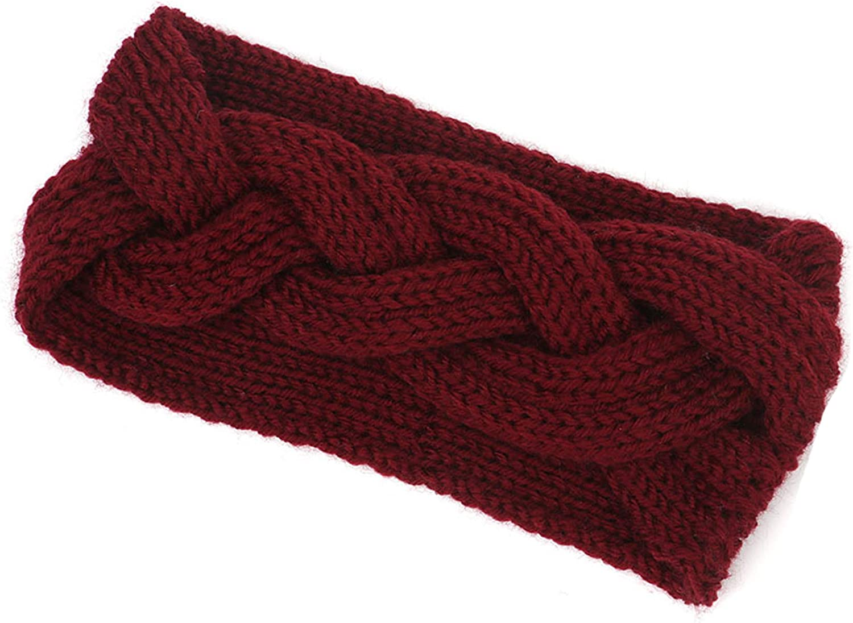 Women Braided Wool Hair Band Knitted Headband Ear Protection Headband Warmer Hair Headwrap