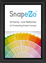 SnapeZo Black A5 Poster Frame, 1 Inch Profile, Front Loading Snap Display, Wall Mounted, Professional Series