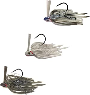 Swim Jigs with 3D Realistic Eyes Jig Head Fishing Lures to Bait Bass, Bluegill and More (3 Pack)