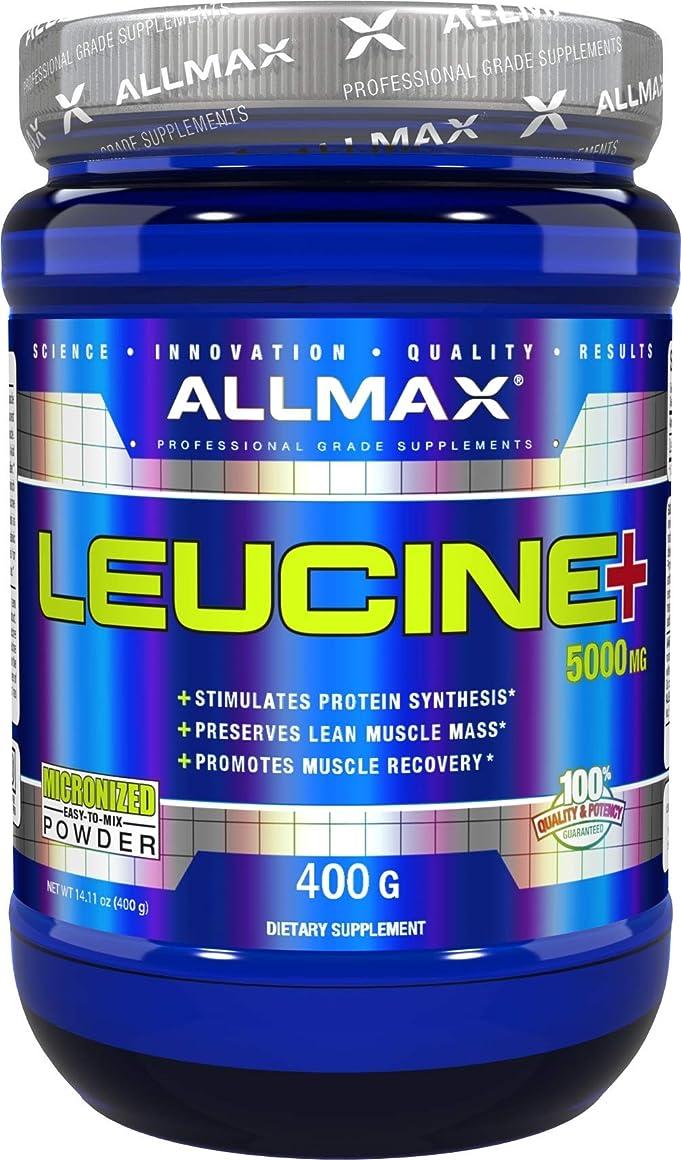 工業用バッジビンAllmax Nutrition オールマックス ニュートリション ロイシン 400g