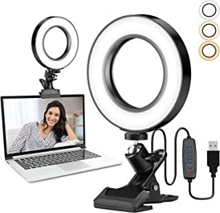 COTOP Luz LED para videoconferencia, Ring Light 6.1'' Selfie Ring Light para videoconferencia, fotografía,Youtube, maquill...