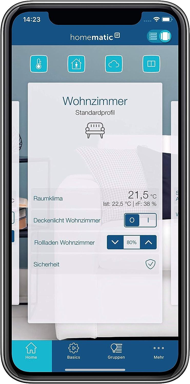Homematic IP Smart Home Thermostat de radiateur Contr/ôle Intelligent de Chauffage par Application 151239A0 Compact