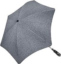 RIOGOO Kinderwagen Sonnenschirm Regenschirm Unregelmäßige Form Universal 50 UV Sonnenschutz für Babys und Kleinkinder mit Regenschirmgriff für Kinderwagen, Kinderwagen, Kinderwagen und Buggy-Grau
