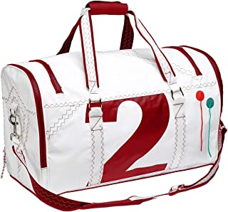 Trend Marine Sea Lord Reisetasche Weiß/Rot aus Segeltuch