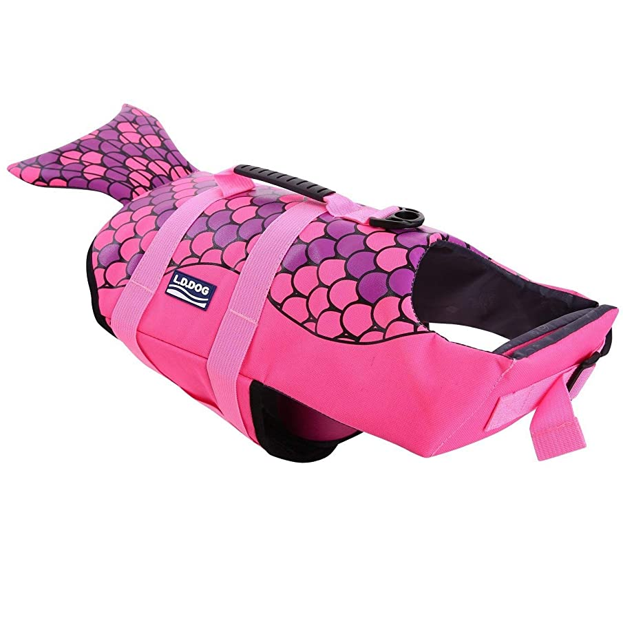 KOESON Dog Life Jacket, Fashion Pet Swimming Vest, Puppy Life Saver with Adjustable Strong Handle