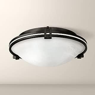 Deco Modern Ceiling Light Flush Mount Fixture Oil Rubbed Bronze 16 3/4