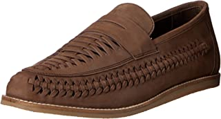 Hush Puppies Mens Wylie Loafer Flats Brown Nubuck 10 US
