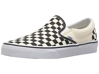 Vans SINGLE SHOE Classic Slip-On Core Classics (Black and White Checker/White