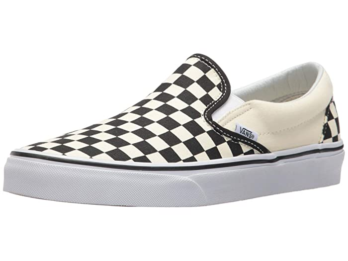 Vintage Sneakers, Retro Designs for Women Vans SINGLE SHOE - Classic Slip-On Core Classics Black and White CheckerWhite $22.21 AT vintagedancer.com