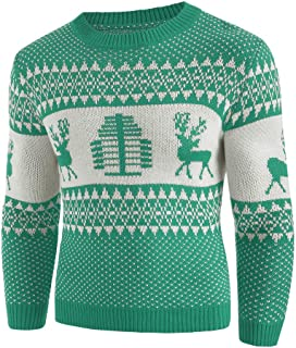 Men Sweater Christmas Winter Jumper Pullover Knitted Tops Outwear Blouse