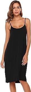 Women's Womens Full Slip Under Adjustable Spaghetti Strap Cami Mini Dress