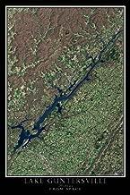 Terra Prints Guntersville Lake Alabama Satellite Poster Map L 24 x 36 inch