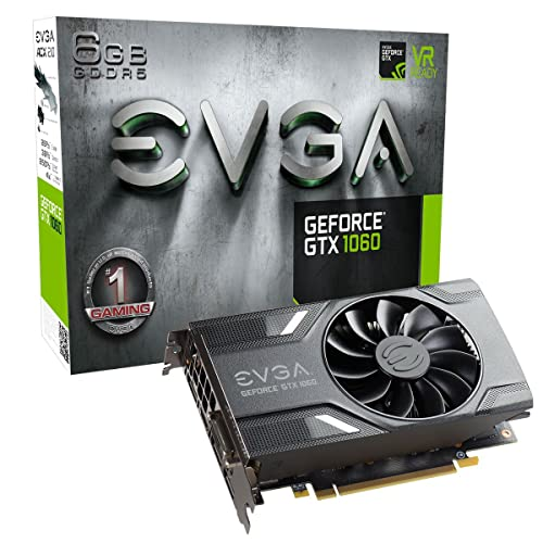EVGA GeForce GTX 1060 GAMING, ACX 2.0 (Single Fan), 6GB GDDR5,