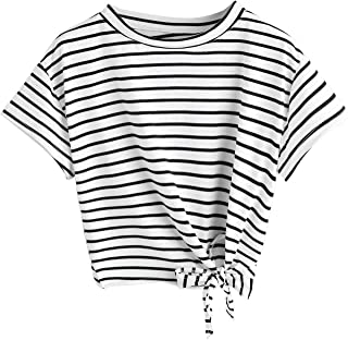 Best black and white striped belly shirt Reviews