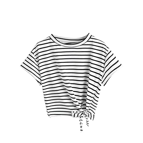 480f6ddcb SweatyRocks Women's Loose Short Sleeve Summer Crop T-Shirt Tops Blouse