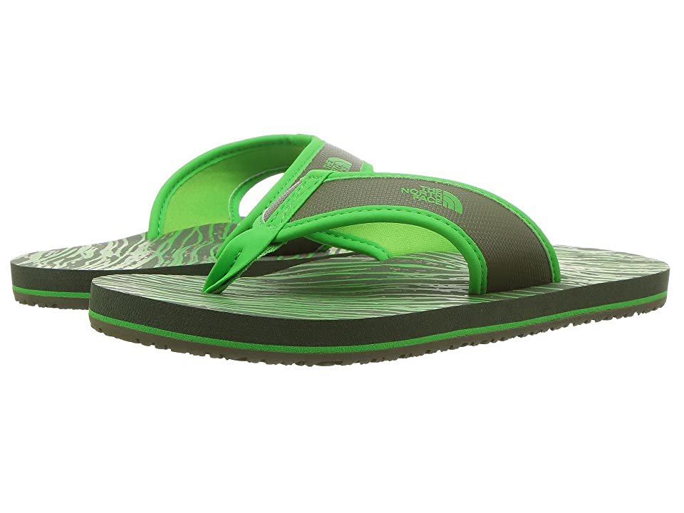 The North Face Kids Base Camp Flip-Flop (Toddler/Little Kid/Big Kid) (English Green/Classic Green (Prior Season)) Kids Shoes