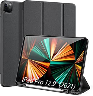 DUX DUCIS Case for iPad Pro 12.9 inch 5th Generation 2021 with Pencil Holder, Support iPad 2nd Pencil Charging,Full Protec...